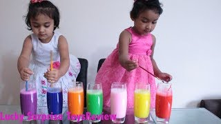 Happy Kids Learn Colors with Colourful Foam Colors and Water   Lucky Surprise ToysReview