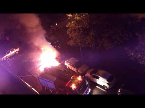 coche quemado San Fermin Madrid