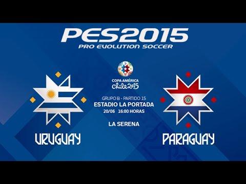 PES 2015   Uruguay - Paraguay   2015 Copa America Group B Round 3