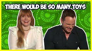 Bryce Dallas Howard Makes Chris Pratt Laugh So Hard | Jurassic World: Fallen Kingdom