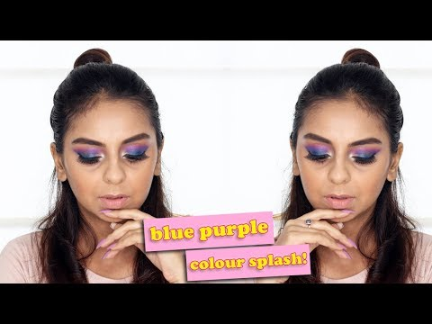 Blue Purple Makeup Tutorial   Affordable Picks   What When Wear