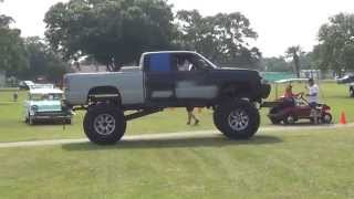 Big Tall Lifted Up Chevy Redneck Truck