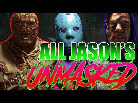 Every Jason UNMASKED (w/ Savini and Retro Jason) - CLOSE-UP - Friday the 13th: The Game