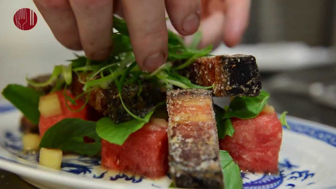 The Epicurean Express: Crispy Pork Belly and Watermelon ...