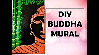 Clay Mural Buddha \ how to make Buddha mural \ wall decor ideas \ mural painting