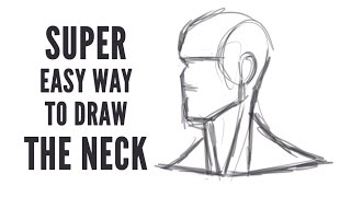 Easy Way To Draw The Neck