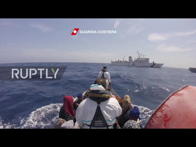 Italy: Italian coast guard picks up 550 migrants off Libyan shore