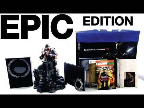 Gears of War 3 Epic Edition Unboxing & Overview