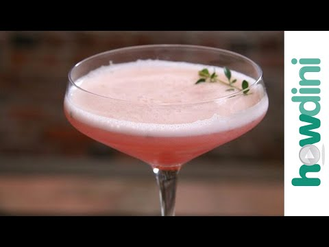 How to make the Clover Thyme Club cocktail - Clover Club koktél recept