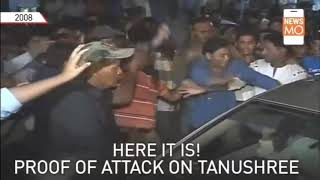 Tanushree Dutta car attack video footage