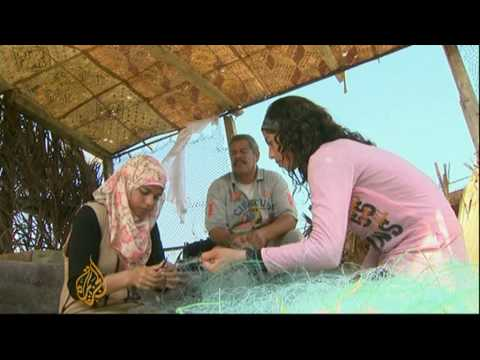 Gaza's only fisherwoman