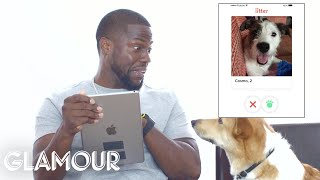 Kevin Hart Hijacks His Dog's Tinder Account | Glamour