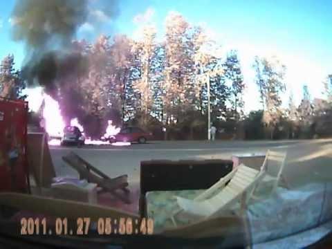 ДТП со взрывом на трассе