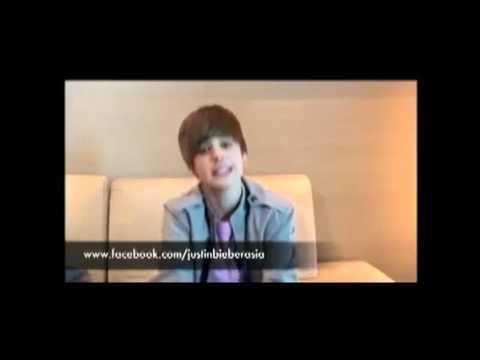 Justin Bieber speaks in Malaysia(new)