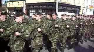 irish army on parade in dundalk ireland (27/3/2008)