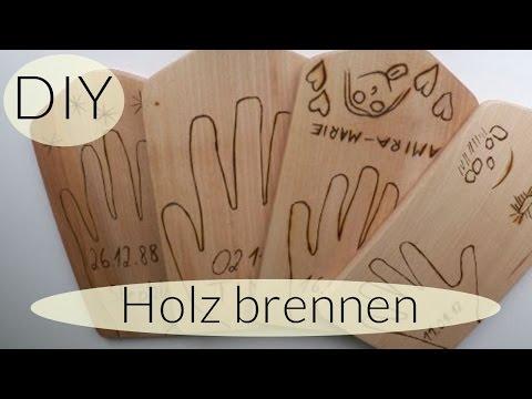 DIY HOLZBRETT BEARBEITEN I HOLZ BRENNEN I DO IT YOURSELF I DEUTSCH - FINOLA