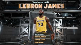 NBA2K20 LEBRON JAMES BUILD - 61 BADGE UPGRADES - DEMIGOD SMALL FORWARD BUILD