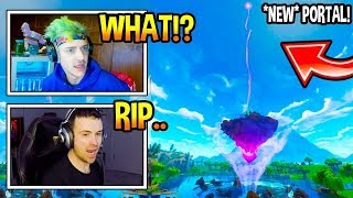REACT STREAMERS TO CUBE ISLAND PORTAL Fortnite Funny Moments Ep.44 (Fortnite Battle Royale Daily)