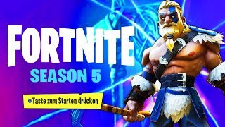 SEASON 5 in FORTNITE, der BATTLE PASS!