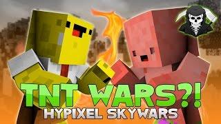 SPONGEBOB vs. PATRICK ( TNT WARS in Hypixel Skywars ) *FAIL*