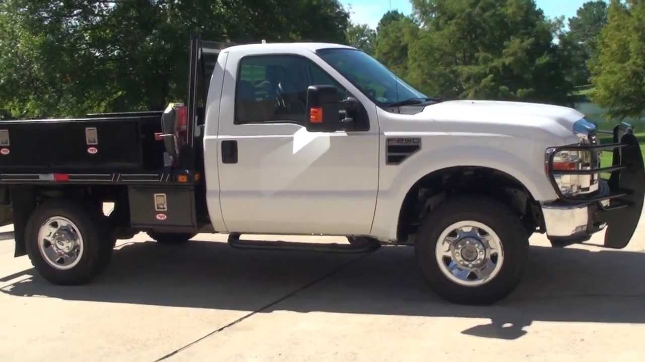 Hd Video 2008 Ford F250 Xlt 4x4 Flat Bed Utility Truck For