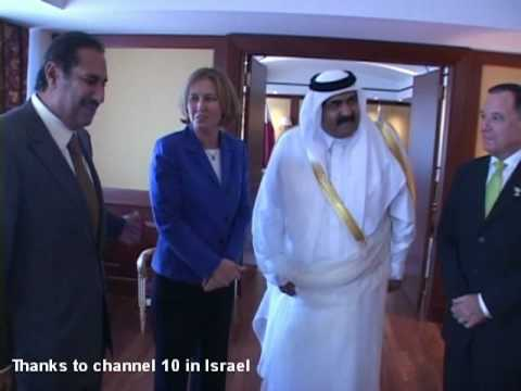 Israel Foreign Minister meets with the emir of Qatar