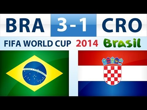 World Cup 2014 highlights Brazil vs Croatia 3-1 all Goals Sao Paulo Brasil June 12 2014