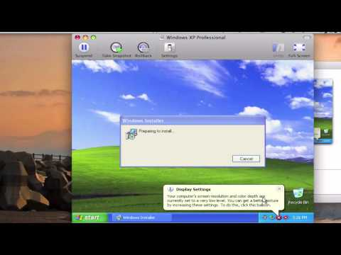 Windows On A Mac : Installing Windows XP on VMware Fusion