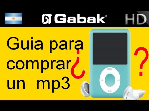 Guia al comprar reproductor Mp3 player 1/2 (reproductor de musica)