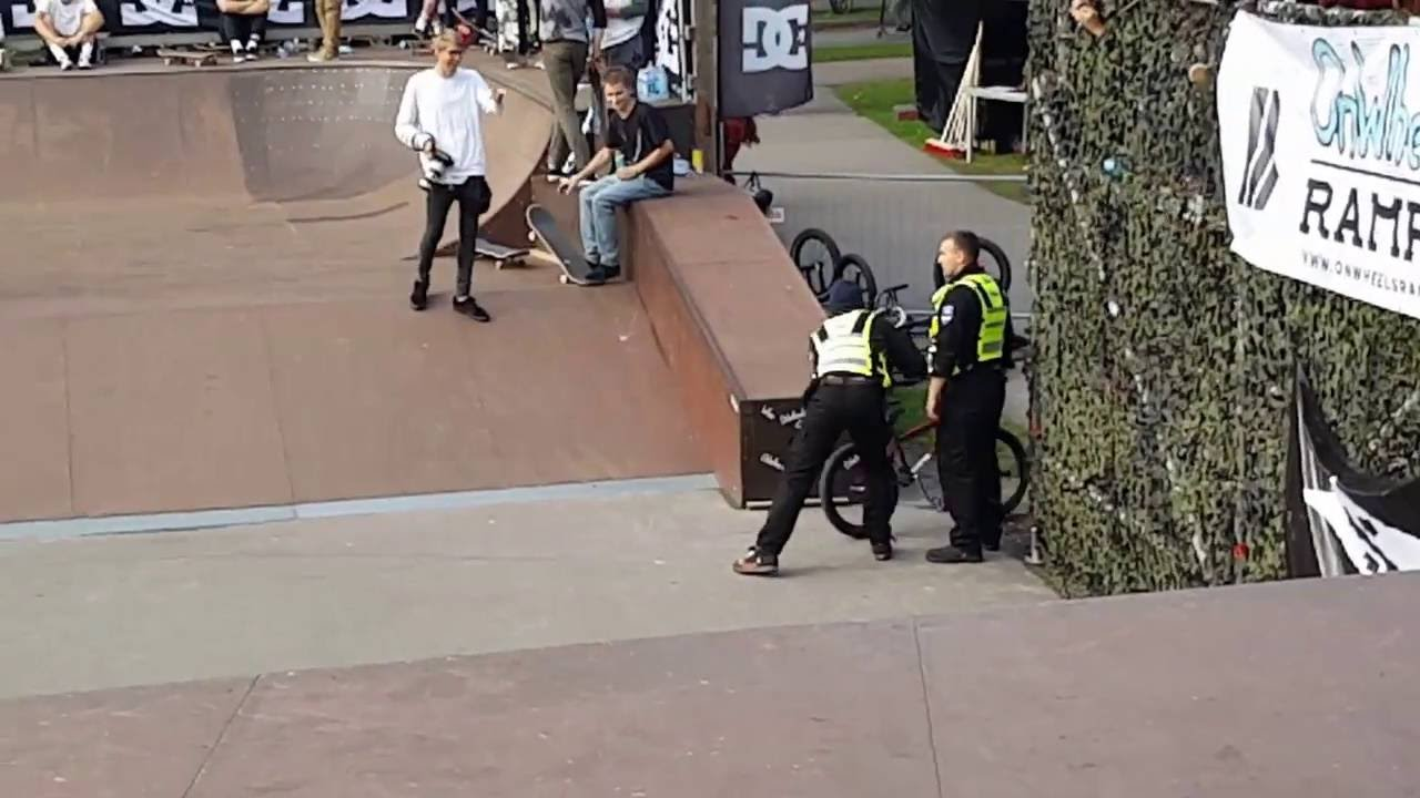 [BMX Biker Gets Schooled By Event Security] Video