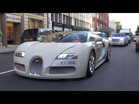 Bugatti Veyron 16.4 Grand Sport on the road in London