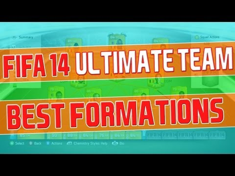 Best Formations for FIFA 14 Ultimate Team