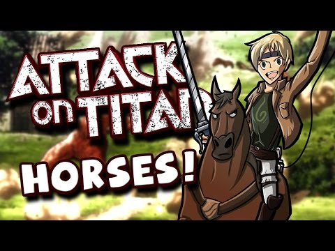 Attack On Titan - Horse Riding Outside The Walls!