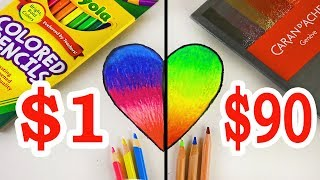 $90 LUXURY Color Pencils VS $1 CRAYOLA Color Pencils: Which is worth the money?