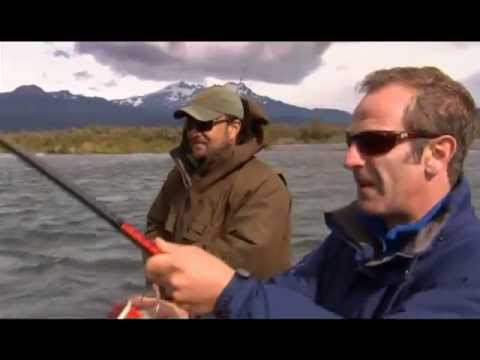 Extreme Fishing with Robson Green @ Patagonia Part 1 - Catching Massive Big King Salmon