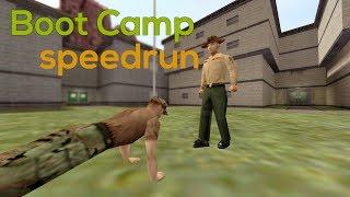 Opposing Force Boot Camp speedrun in 9:14