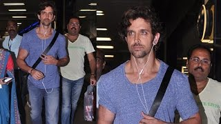 Hrithik Roshan Fly for Singapore Spotted at Mumbai Airport   Bollywood Actor Hrithik Roshan