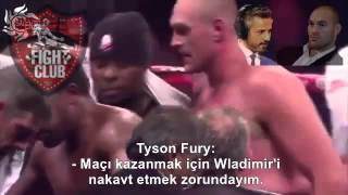 Tyson Fury talk to Bilgehan About Klitschko : I don