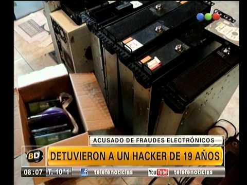 Detienen a hacker de 19 años acusado de fraude electrónico - Telefe Noticias