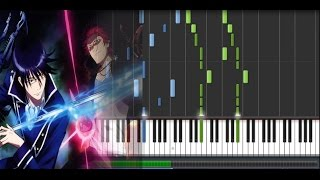K Project (アニメ「K」): Return of Kings PV & Ep 1 OST - Assembly (Piano Synthesia Tutorial + Sheet)
