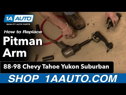 How To Install Replace Pitman Arm Chevy GMC Truck Tahoe Yukon Suburban 88-98 Par