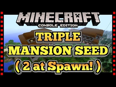 TRIPLE WOODLAND MANSION SEED / 2 MANSIONS AT SPAWN - Minecraft Console PS4, Xbox One, Switch