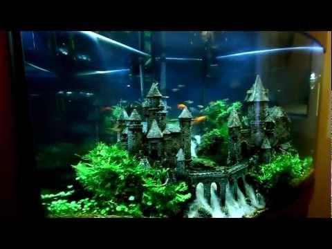 Как своими руками сделать замок в аквариуме 34