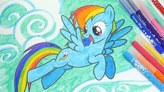 MLP Coloring Book My Little Pony Pages For Kids Rainbow Dash
