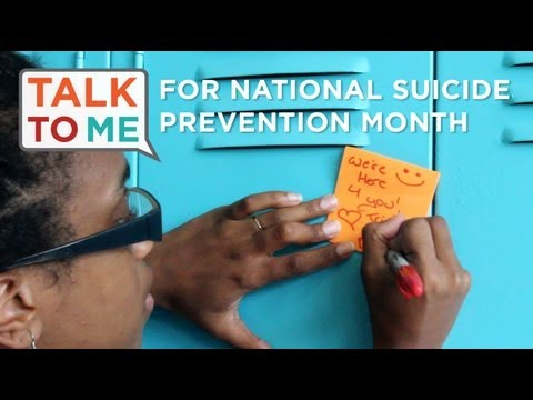 Just One Note: #TrevorTalkToMe for National Suicide Prevention Month