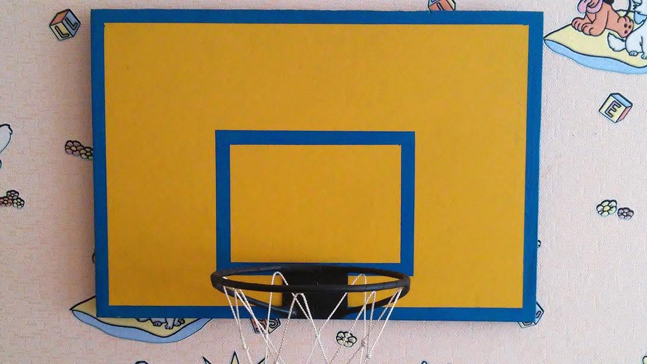 Из чего можно сделать баскетбольный щит своими руками 36