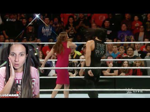 WWE Raw 12/14/15 Stephanie Slaps Roman Reigns