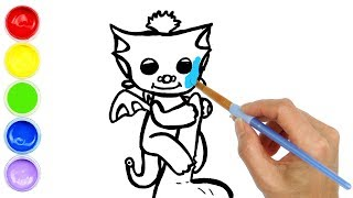 Baby Dragon Tara Coloring for Kids and Drawing Painting for Toddlers | Creative World