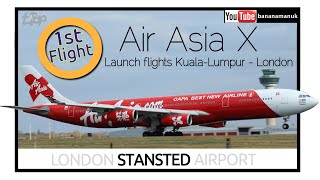 Air Asia X A340 Launch Long Haul Low Cost Flying Into London Stansted Airliner Video