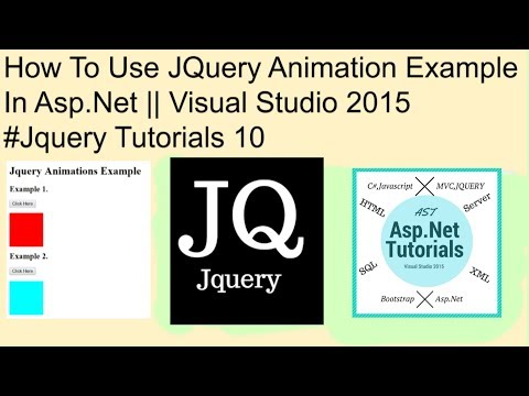 How to use jquery animation example in asp.net || visual studio 2015 #jquery tutorials 10